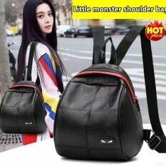 ราคา Fashion กระเป๋า กระเป๋าเป้ กระเป๋าสะพายหลังสีดำ Woman Backpack No 02247 Black Abillion ใหม่