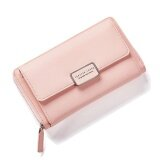 ส่วนลด Fashion Women Clutch Pu Leather Shoulder Solid Ladies Bags Chain Bag (Pink Intl จีน