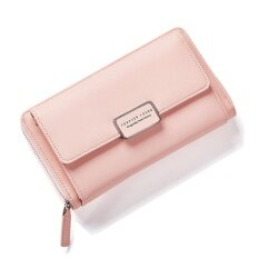 ราคา Fashion Women Clutch Pu Leather Shoulder Solid Ladies Bags Chain Bag (Pink Intl ใน จีน