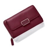 ราคา Fashion Women Clutch Pu Leather Shoulder Solid Ladies Bags Chain Bag (Red Intl เป็นต้นฉบับ Unbranded Generic