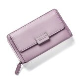 Fashion Women Clutch Pu Leather Shoulder Solid Ladies Bags Chain Bag (Violet Intl ใน จีน