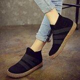 ราคา ราคาถูกที่สุด แฟชั่นผู้หญิงลื่นบนสีข้อเท้าแบนสไตล์ยุโรปรองเท้า
