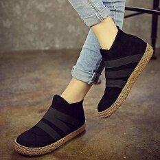 ราคา แฟชั่นผู้หญิงลื่นบนสีข้อเท้าแบนสไตล์ยุโรปรองเท้า เป็นต้นฉบับ Unbranded Generic