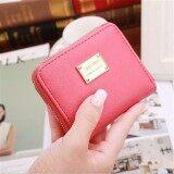 ขาย Fashion Women Lady Short Wallet Card Holder Zipper Bag Pu Leather Coin Purse Hot Watermelon Red Intl ถูก จีน