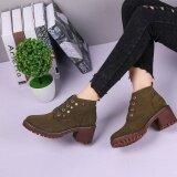 Fashion Women Martin Boots Winter Comfort Booties Casual Boots Green Intl ใน จีน