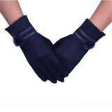 ขาย ซื้อ ออนไลน์ Fashion Women Touch Screen Gloves Winter Warm Soft Outdoor Gloves Mittens Blue Intl
