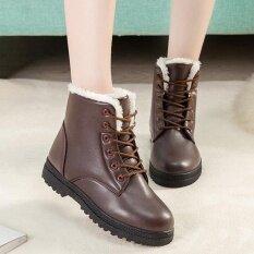 ขาย แฟชั่นผู้หญิงสหรัฐขนาด 5 11 บู๊ทส์ฤดูหนาวให้อบอุ่นตุ๊กตากลางแจ้งหิมะรองเท้าข้อเท้า นานาชาติ ถูก