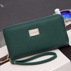 ขาย Fashion Women Wallets High Quality Pu Leather Ladies Purse Long Zipper Women S Phone Pocket Credit Card Holder Wallets Bags Green Intl ราคาถูกที่สุด