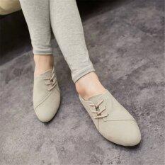 ส่วนลด สินค้า แฟชั่นผู้หญิงคลาสสิกรองเท้าสบายๆ Oxfords Loafers รองเท้าผ้าใบต่ำ N รองเท้ารองเท้าส้นสูง