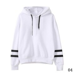 Fashion Womens Hoodie Sweatshirt Jumper Hooded Pullover Tops Blouse Long Sleeve Coat White Intl ถูก