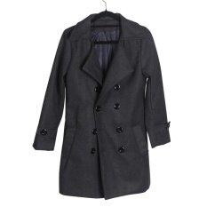 ขาย Favolook ลำลองผู้ชายคู่เสื้อกันหนาวทนกว่าเสื้อแจ็คเก็ตฤดูหนาวแจ็คเก็ต สีเทา สนามบินนานาชาติ Favolook ออนไลน์