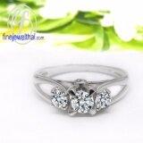 ขาย Finejewelthai แหวนเพชร แหวนเงิน เพชรสังเคราะห์ เงินแท้ 925 แหวนหมั้น แหวนแต่งงาน Diamond Cz Silver Wedding Ring R1224Cz Finejewelthai เป็นต้นฉบับ