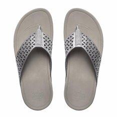 ขาย Fitflop รองเท้าแตะรุ่น Leather Lattice Surfa Silver Color สี Silver Fitflop ถูก