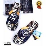 ราคา สีเหลือง รองเท้าแตะ หูคีบ ลำลอง แฟชั่นชายหาด และ ทุกเส้นทาง Flip Flops Sandals Slippers Shoes ลาย Colorful Wave Graphic กันลื่น จากวัสดุ Eva สำหรับผู้ชาย ใน กรุงเทพมหานคร