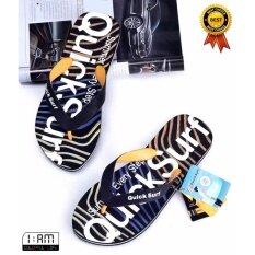 ขาย สีเหลือง รองเท้าแตะ หูคีบ ลำลอง แฟชั่นชายหาด และ ทุกเส้นทาง Flip Flops Sandals Slippers Shoes ลาย Colorful Wave Graphic กันลื่น จากวัสดุ Eva สำหรับผู้ชาย ถูก