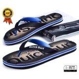 โปรโมชั่น สีน้ำเงิน รองเท้าแตะ หูคีบ ลำลอง แฟชั่นชายหาด และ ทุกเส้นทาง Flip Flops Sandals Slippers Shoes ลาย Glamorous Steps Graphic กันลื่น จากวัสดุ Eva สำหรับผู้ชาย Quick Surf ใหม่ล่าสุด