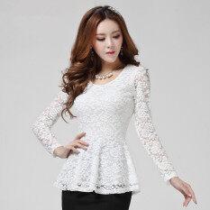 ราคา เสื้อใหม่ฉลุสลิมลูกไม้ สีขาว ฮ่องกง