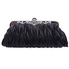 ขาย Folds Evening Dress Clutch Bags Women S Vintage Satin Handbag Black ออนไลน์ ใน จีน