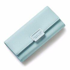 ราคา Forever Young กระเป๋าสตางค์แฟชั่นสไตล์เกาหลีใบยาวแบบพับ 3 ตอน สีเขียวมิ้นท์ ใหม่ ถูก