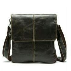 ทบทวน ที่สุด Foryou กระเป๋าหนังแท้ กระเป๋าสะพายข้างผู้ชาย Fy02 1 น้ำตาล
