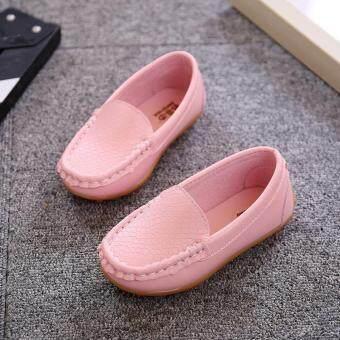 โฟร์ซีซั่นส์เด็กชายและหญิงรองเท้าสบายรองเท้าสีทึบเจ้าหญิงแฟชั่นรองเท้านุ่ม-สีชมพู-นานาชาติ