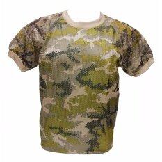 ราคา ราคาถูกที่สุด เสื้อยืด ลายพราง เสื้อทหาร ดิจิตอล ทหารเรือ มีรองบ่า ผ้าตาข่าย แขนสั้น ขนาด Free Size ป้ายเสื้อ Size L A403