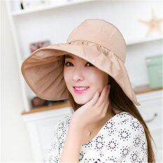 ราคา Freebang Women Large Wide Brim Hat Summer Uv Protect Sun Beach Foldable Roll Up Visor Cap Unbranded Generic ออนไลน์