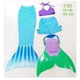ซื้อ Friendly 4 Kid ชุดว่ายน้ำ หางนางเงือก เซ็ต 4 ชิ้น เสื้อ กางเกง หาง ฟิน สีฟ้า ออนไลน์