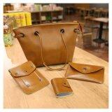 ขาย Ftshop กระเป๋าสะพายข้าง กระเป๋าเป้ กระเป๋าแฟชั่น กระเป๋า Tote Bag กระเป๋า กระเป๋าสตางค์ กระเป๋าผู้หญิง กระเป๋าหนัง เซต 4 ใบ รุ่น 157C สีน้ำตาล Ftshop ออนไลน์