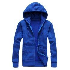 ทบทวน G2G เสื้อแจ็คเก็ตกันหนาวมีฮู๊ด ไซส์ Xl สำหรับใส่ในฤดูหนาว กันลมและอากาศ สีน้ำเงิน จำนวน 1 ชิ้น