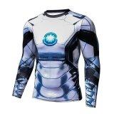 โปรโมชั่น Iron Man 3D แน่นกระชับเสื้อผ้าสำหรับผู้ชายและผู้หญิงเสื้อยืดกีฬาออกกำลังกายแขนยาว สีรูปภาพ ใน ฮ่องกง