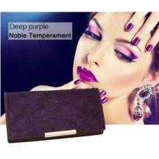 ซื้อ Q Shop High Quality Fashion Women Purse Horsehair Cowhide Purse With Zipper Card Holder Wallet Purple Intl ถูก ใน จีน