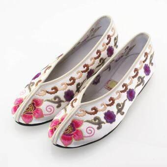 ลายปักสีแดงรองเท้าสตรีรองเท้าองค์หญิงรองเท้าผ้าปักกิ่งโบราณรองเท้าเจ้าสาวรองเท้าสำหรับใส่แต่งงาน MIMZF ขนาดเล็กสวนดอกไม้ 903