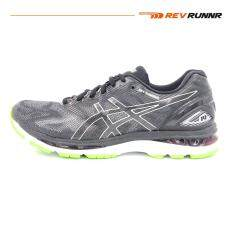 Asics Men Running Shoes รองเท้าวิ่งผู้ชาย Gel Nimbus 19 Black Glacier Grey Energy Green สมุทรปราการ