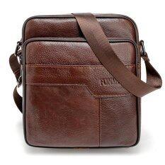 ขาย กระเป๋าถือหนังวัวแท้ครอสทนทานกระเป๋าเดินทางกระเป๋าสะพายชาย กาแฟ 25X21 5X7 เซนติเมตร นานาชาติ Unbranded Generic ถูก