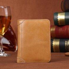 ซื้อ แท้ หนังสัตว์ วัว สองพับ กระเป๋าสตางค์ ผู้ชาย เจ้าของบัตรเครดิต เล็ก ชาย กระเป๋าเงิน ทอง Intl Unbranded Generic ถูก
