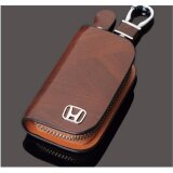 ขาย Genuine Leather Men Women Car Key Cover Holder Keychain Key Case For Honda Intl ผู้ค้าส่ง