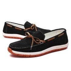 ซื้อ Genuine Leather Men Shoes Soft Moccasins Fashion Men Flats Comfy Casual Driving Boat Shoes Intl Unbranded Generic ออนไลน์
