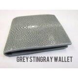 ซื้อ Eight Shop กระเป๋าสตางค์ กระเป๋าเงิน หนังปลากระเบนขัด สีเทา Genuine Stingray Polished Leather Grey Bifold Wallet ออนไลน์ ถูก