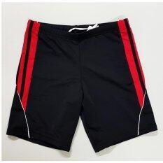 ขาย ซื้อ Gets กางเกงว่ายน้ำชาย รุ่น Gml009 สีแดงแถบดำ