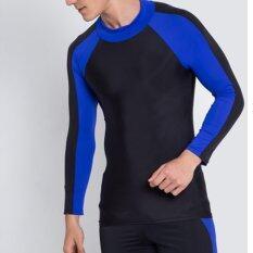Gets เสื้อว่ายน้ำเเขนยาว Long สีน้ำเงิน.