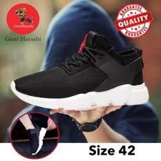 ขาย Gion รองเท้าผ้าใบสไตล์เกาหลี รองเท้ากีฬารุ่นใหม่ น้ำหนักเบา สีดำ เบอร์ 42 ใน Thailand