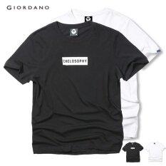 ส่วนลด Giordano Bsx Men Printed Cotton Tee 04247001 Black White Intl จีน