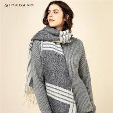 Giordano ผู้หญิงสไตล์อังกฤษลายสก๊อตผ้าพันคอ 05586605 ดำ นานาชาติ ใน จีน