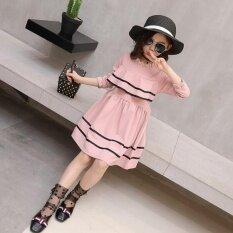 ราคา ราคาถูกที่สุด สาวแฟชั่นชุดบัวใบ สีชมพู นานาชาติ