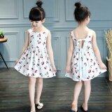 ขาย Girls Sweet Cotton Princess Dresses Cherry Flowers Dresses White Intl Unbranded Generic เป็นต้นฉบับ