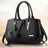 Girly Bags กระเป๋าถือ พร้อมสายสะพาย กระเป๋าสะพาย แบบมีหูหิ้ว รุ่น Gb 081 สีดำ เป็นต้นฉบับ