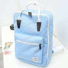 Girly Bags กระเป๋าเป้สะพายหลัง กระเป๋าเป้เกาหลี กระเป๋าสะพายหลังผู้หญิง Backpack Women รุ่น Gp 091 สีฟ้า เป็นต้นฉบับ