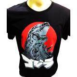 ราคา เสื้อยืดคอกลมสกรีนลายก็อตซิลล่า Godzilla Japan สีดำ เป็นต้นฉบับ