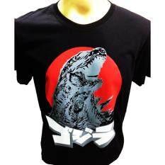ราคา เสื้อยืดคอกลมสกรีนลายก็อตซิลล่า Godzilla Japan สีดำ
